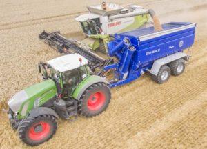 Grain Saver Überladewagen Arbeitsstellung